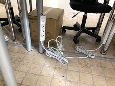 ビジネスフォンとネットワーク工事の事例写真