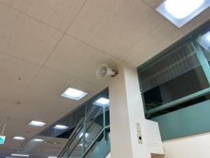 構内放送用スピーカー施工設置